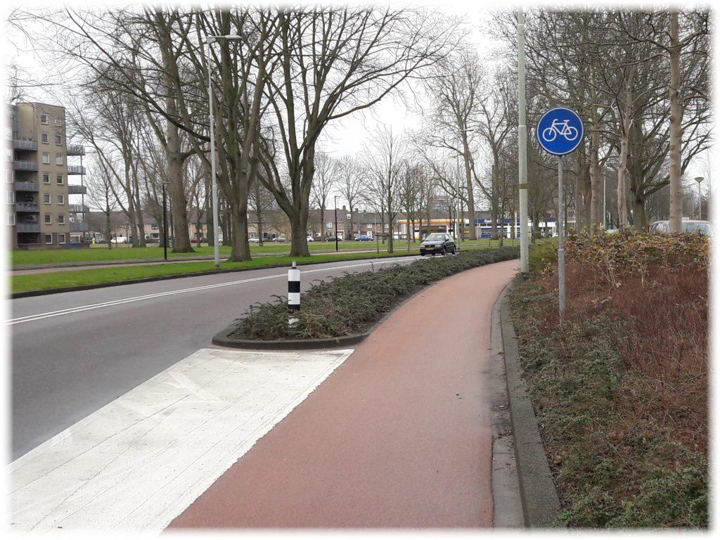 車道と並走の自転車専用通行帯