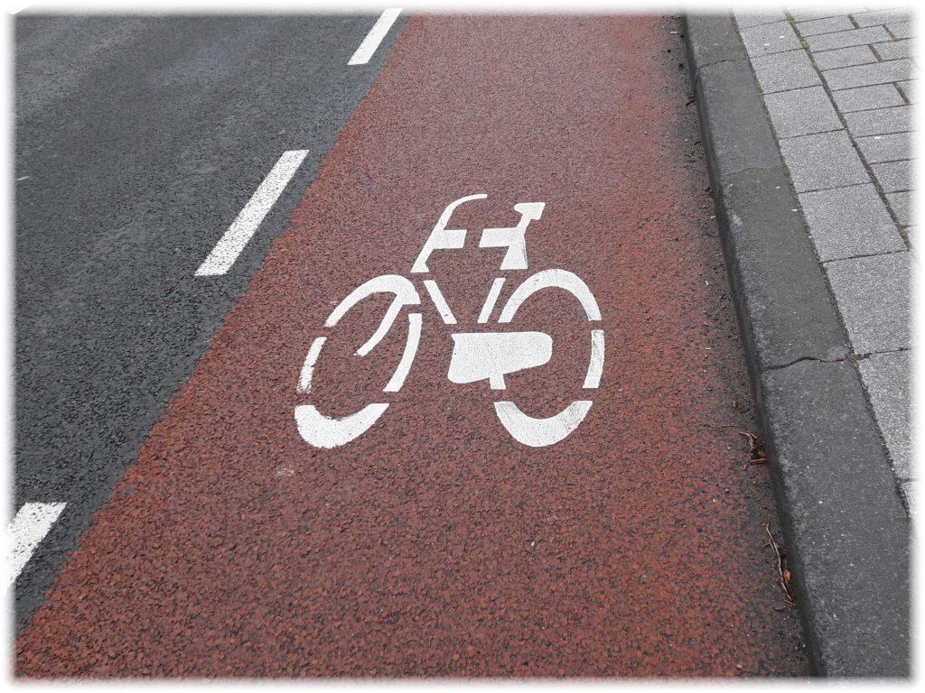 自転車専用通行帯のマーク