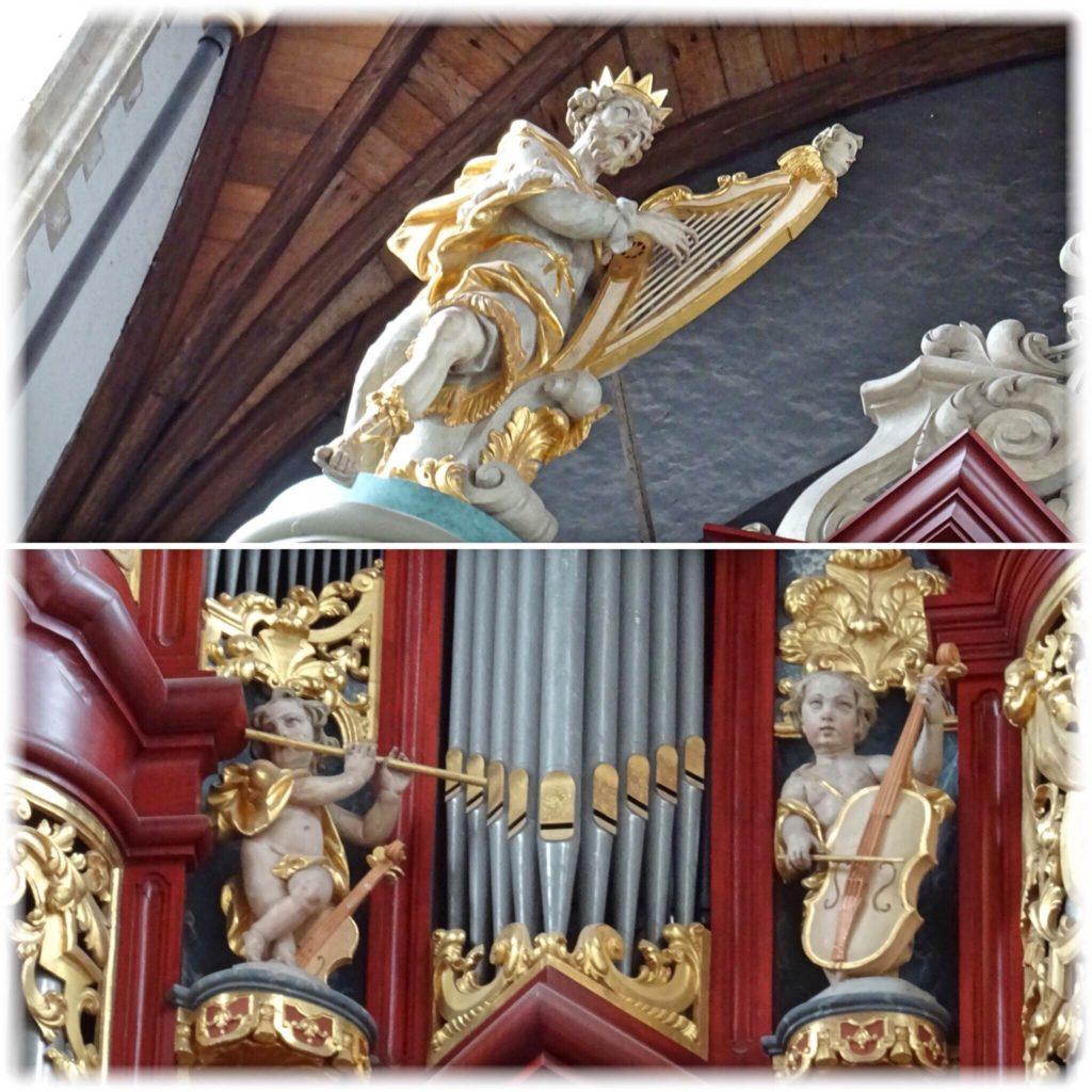 オルガンに装飾されてある彫刻