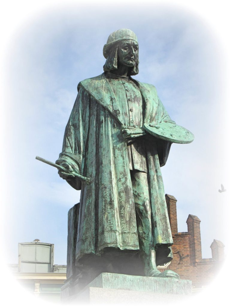 ヒエロニムスボスの銅像