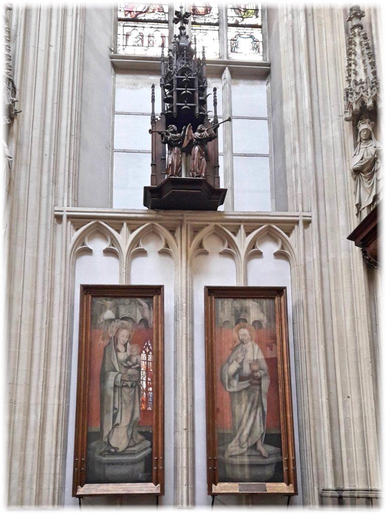 聖ヤン大聖堂の天文時計の一部