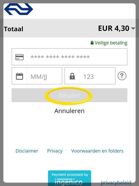 NSアプリカード情報入力
