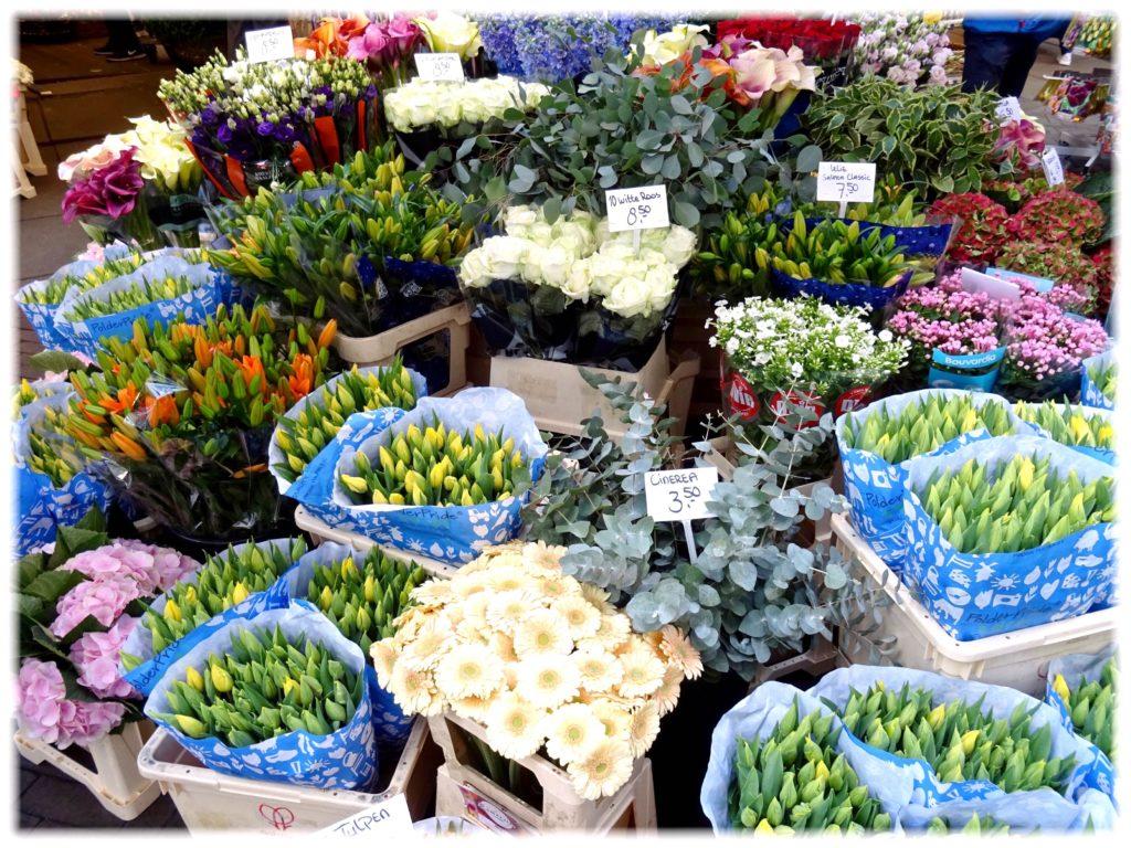 花市場の切り花