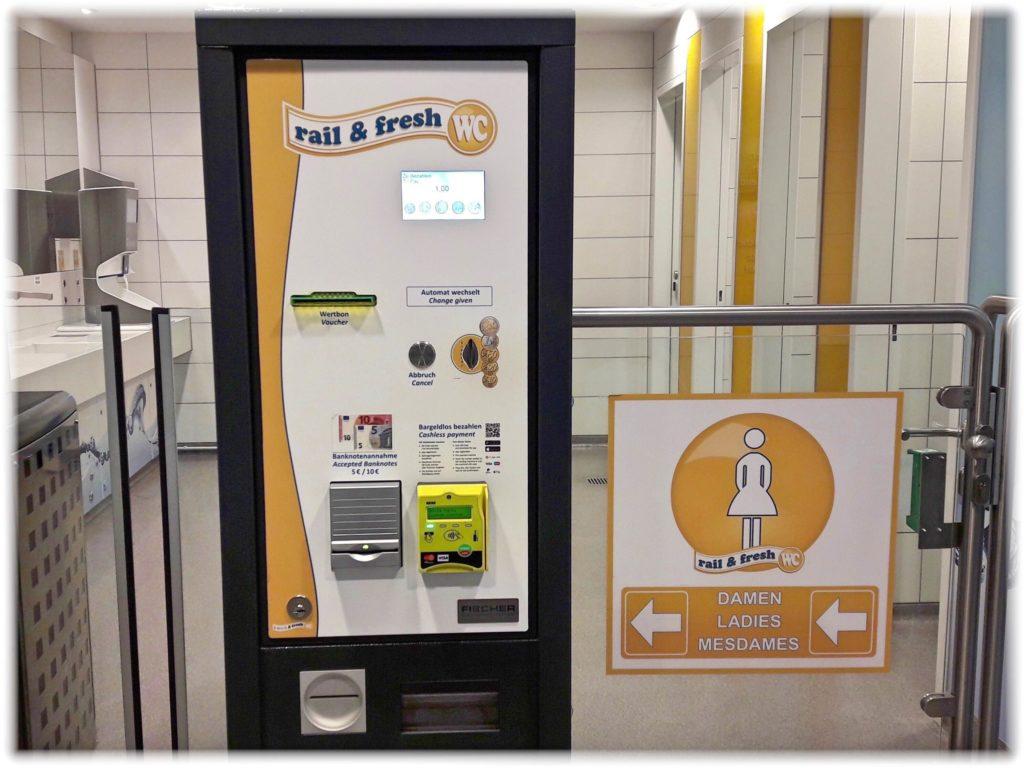 ドイツの駅にあるトイレ