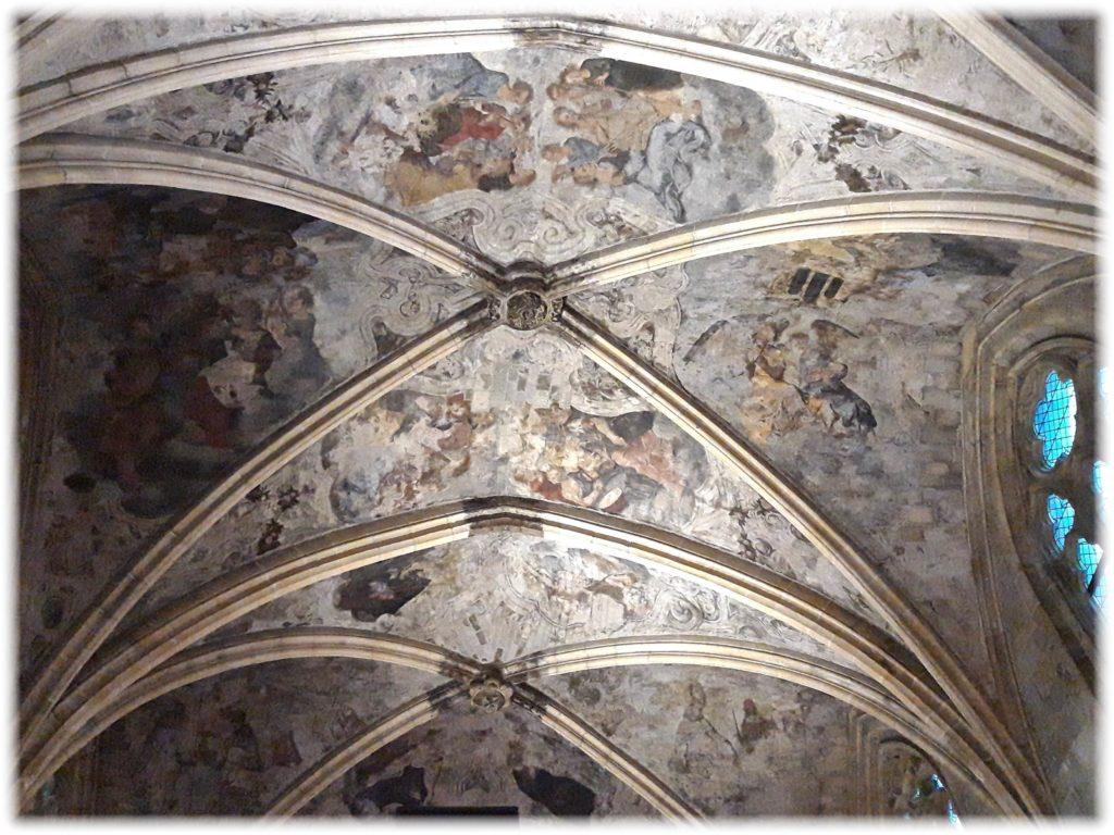 天井に描かれたフレスコ画