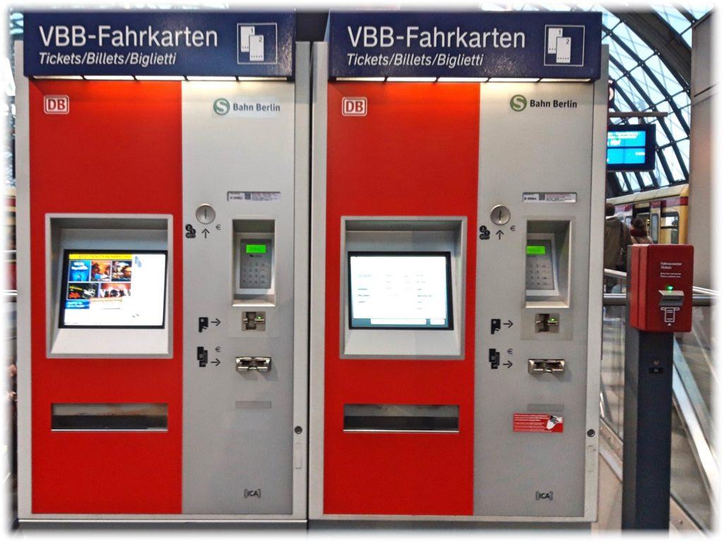 ベルリンの自動券売機