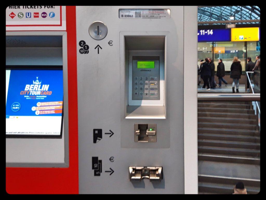ベルリン自動券売機での決済