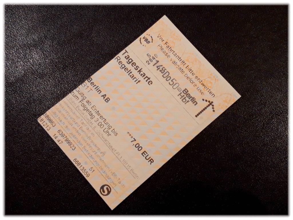 ベルリン交通の1日券