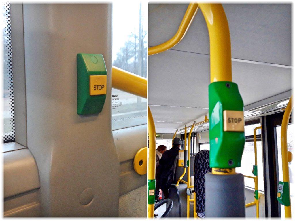 バスのストップボタン
