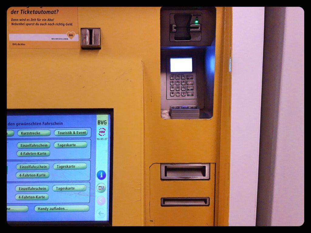 BVG自動券売機で決済