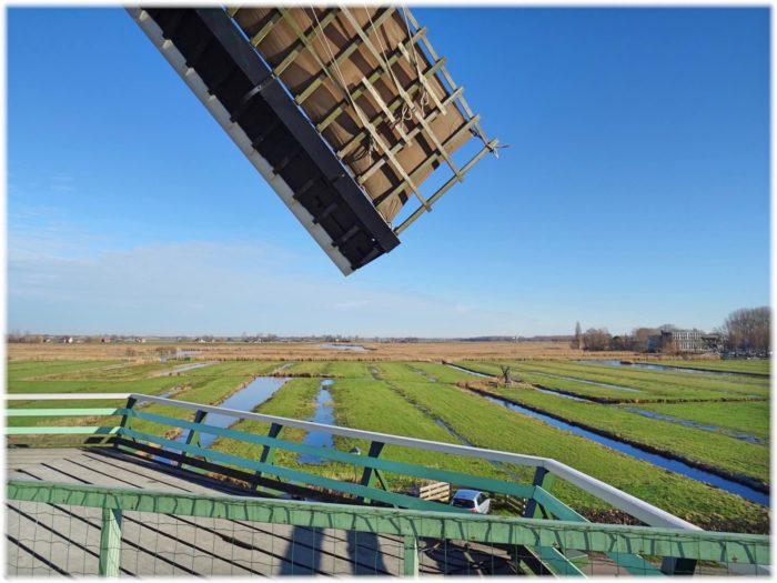 ザーンセスカンス風車のデッキからの眺め