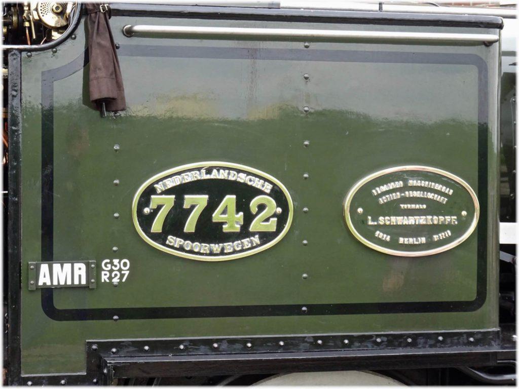 ベッロ蒸気機関車のプレート