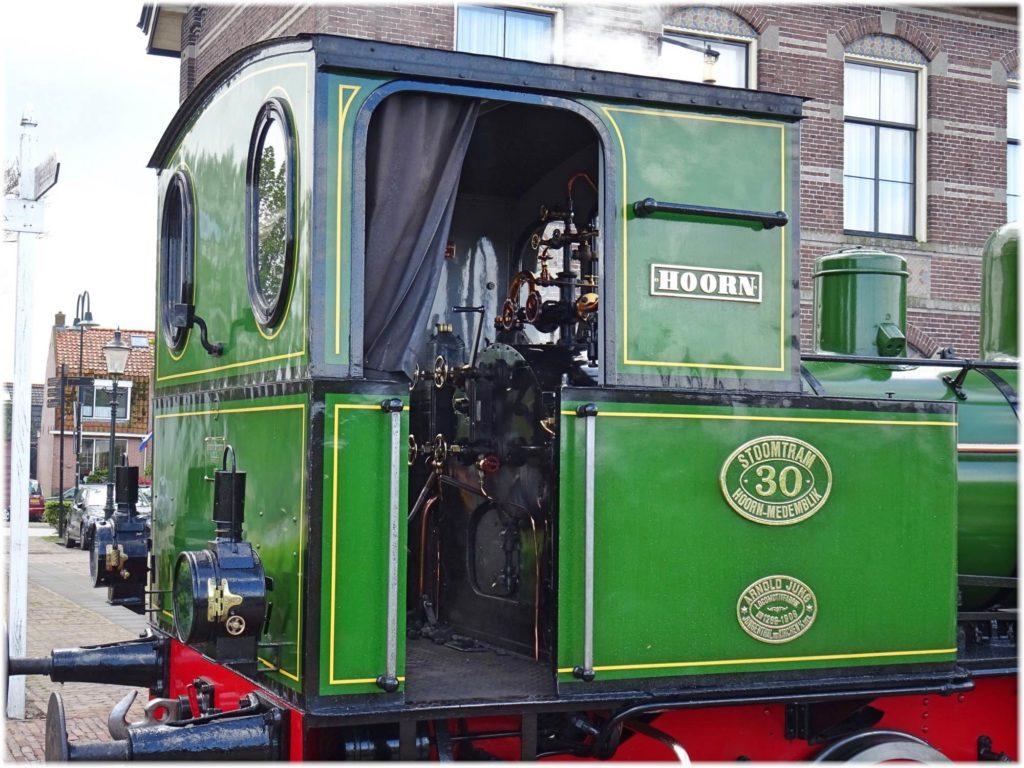 30型蒸気機関車の機関室