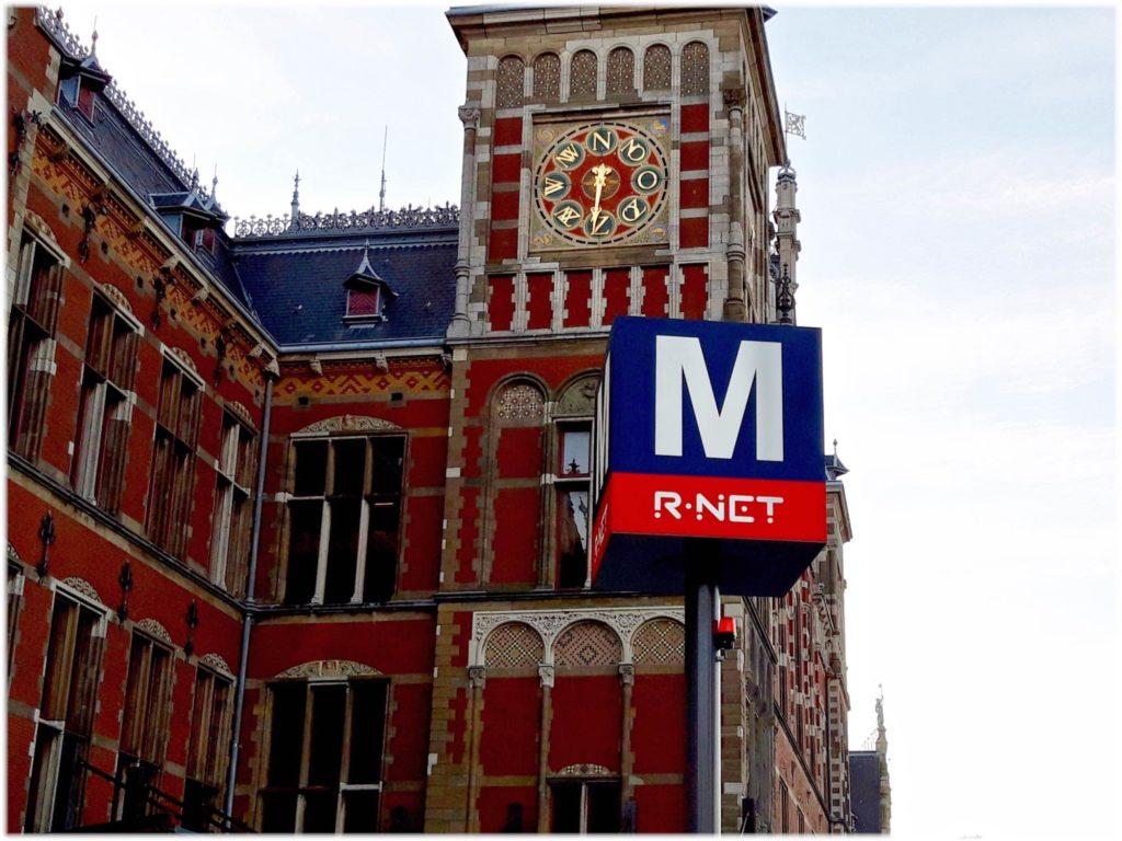 アムステルダム地下鉄のサイン
