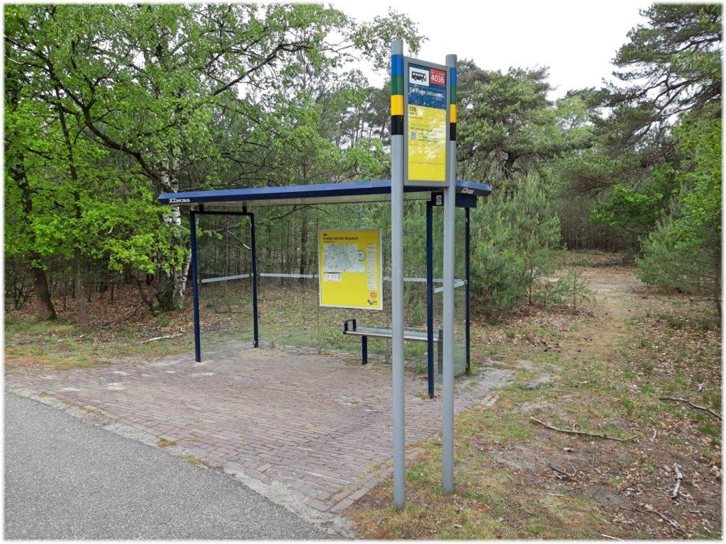 クレラーミュラー美術館のバス停
