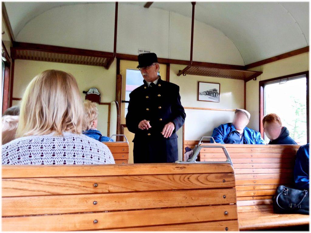 汽車の乗務員の案内