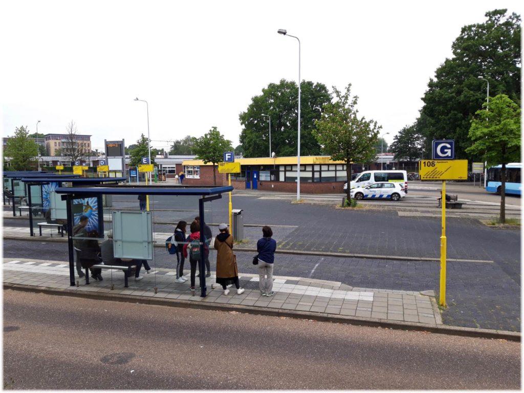 エデワーゲニンゲン駅のバスターミナル