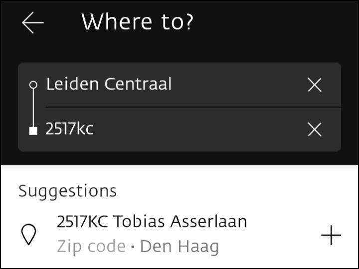 アプリの住所検索