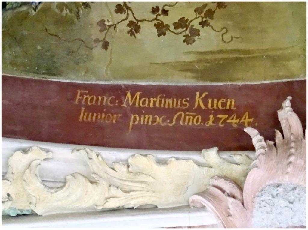 フレスコ画を描いた画家のサイン
