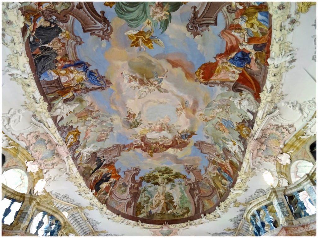 図書館天井のフレスコ画