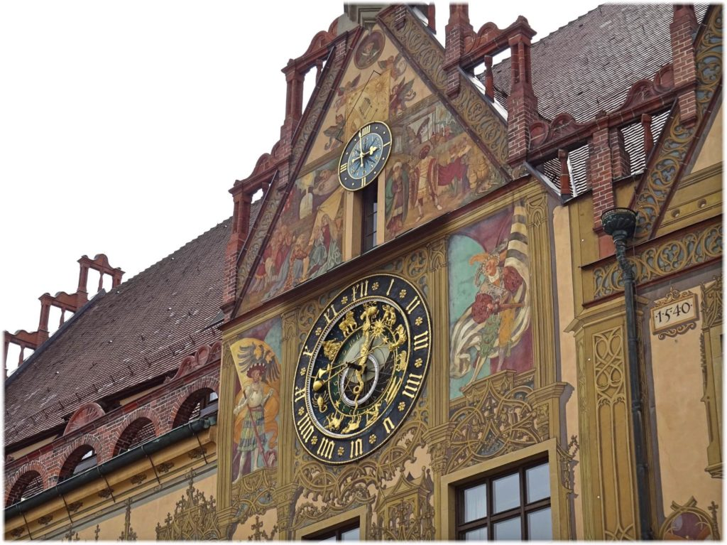 ウルム旧市庁舎の天文時計