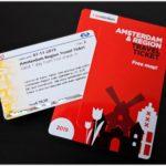 アムステルダムリージョントラベルチケットと地図
