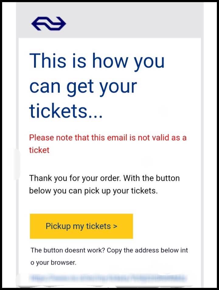 受信したチケットのメール