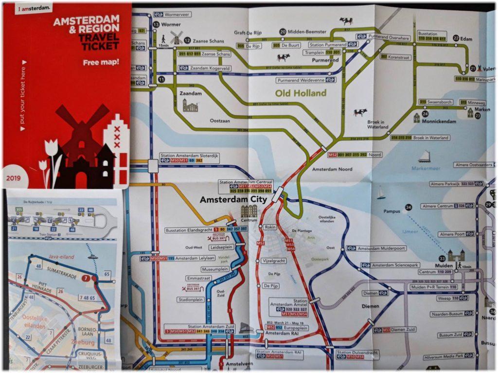 トラベルチケットの地図