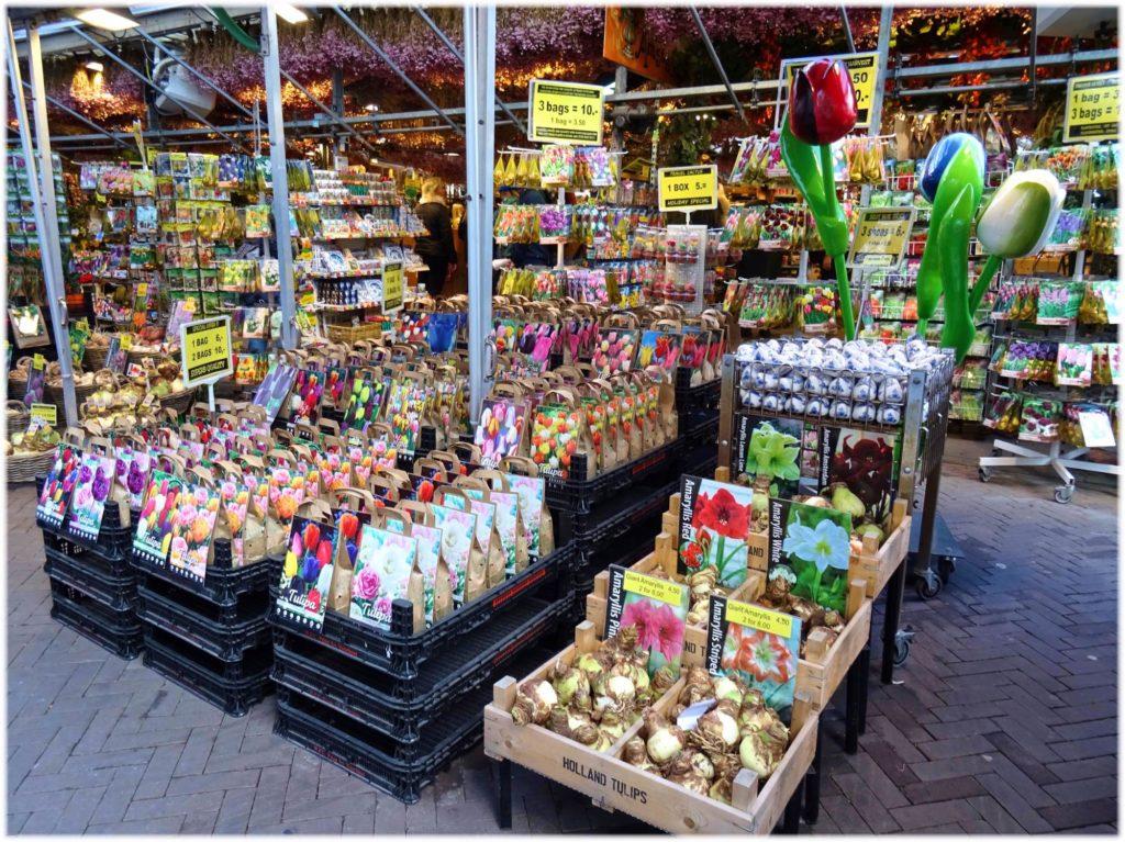 トラムで花市場