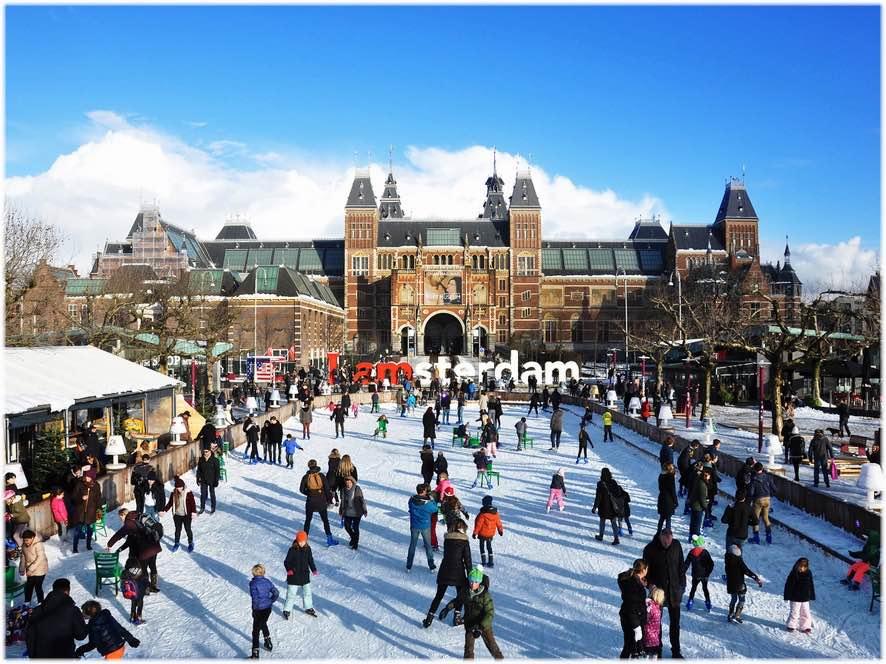 アムステルダムのスケート場
