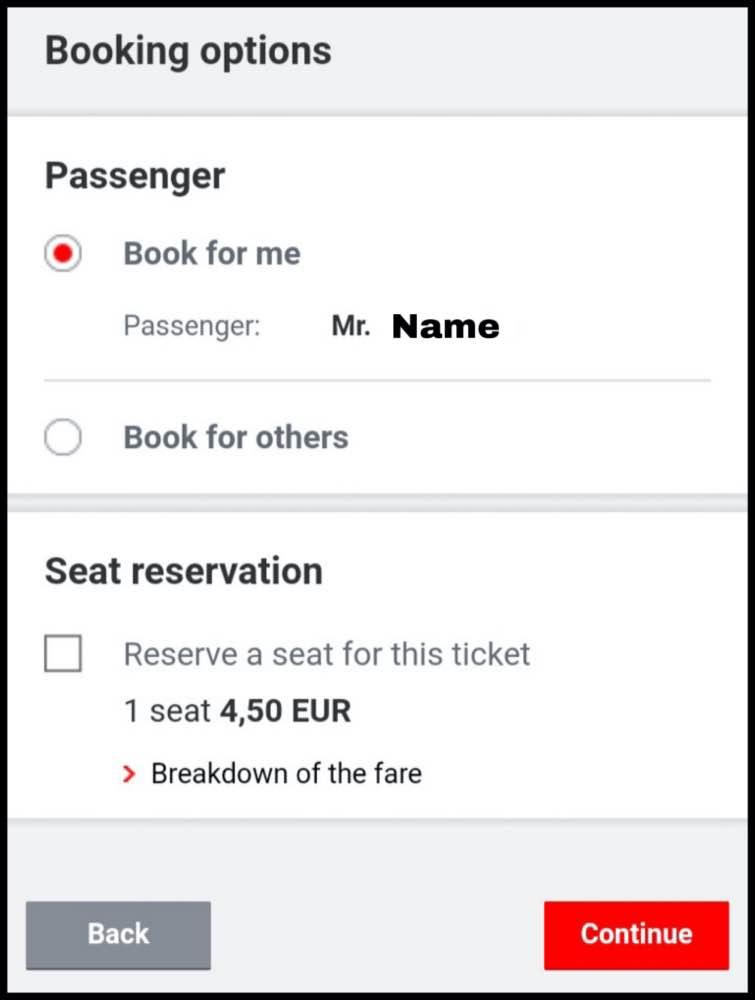 2等車の座席指定