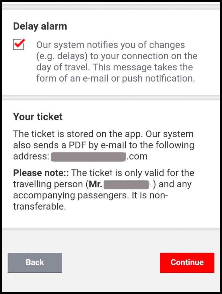 予約するチケットの確認