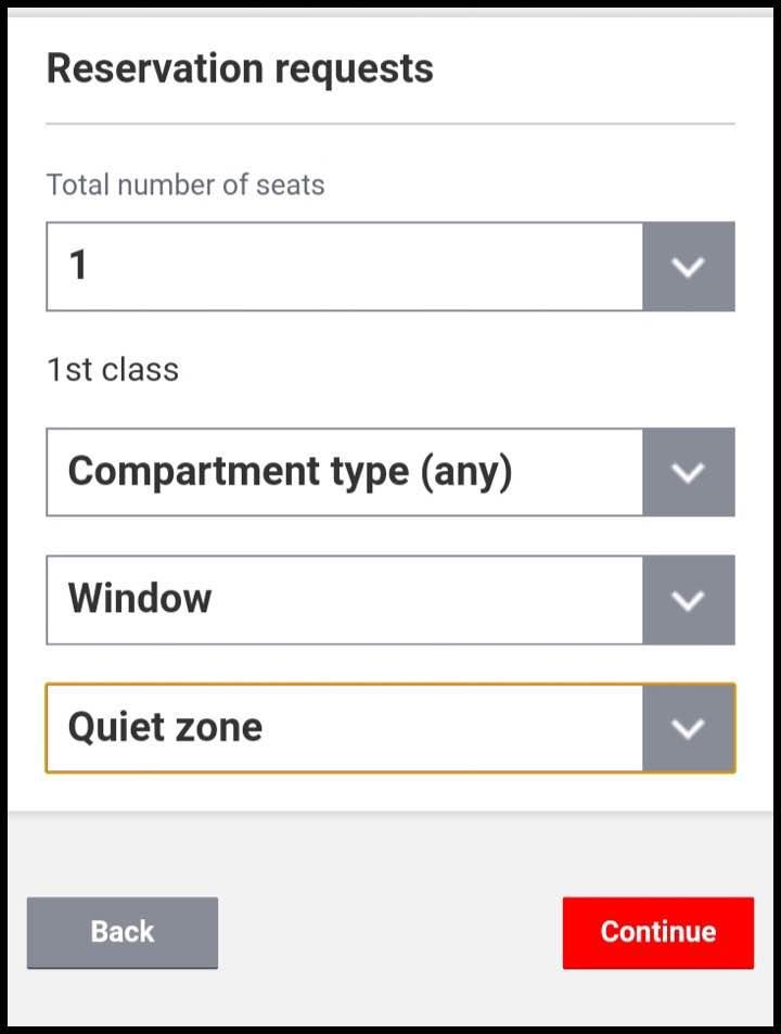 座席の指定
