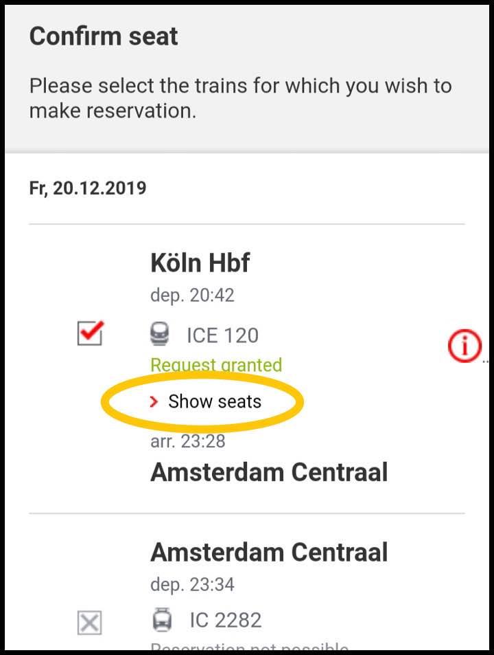 座席を選ぶ