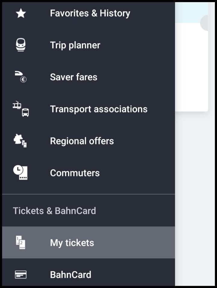 チケットの表示方法