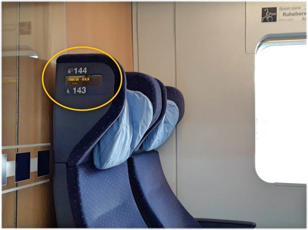 座席に表示してある番号