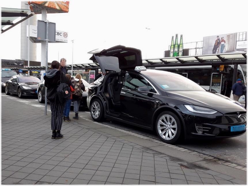 スキポール空港のタクシー