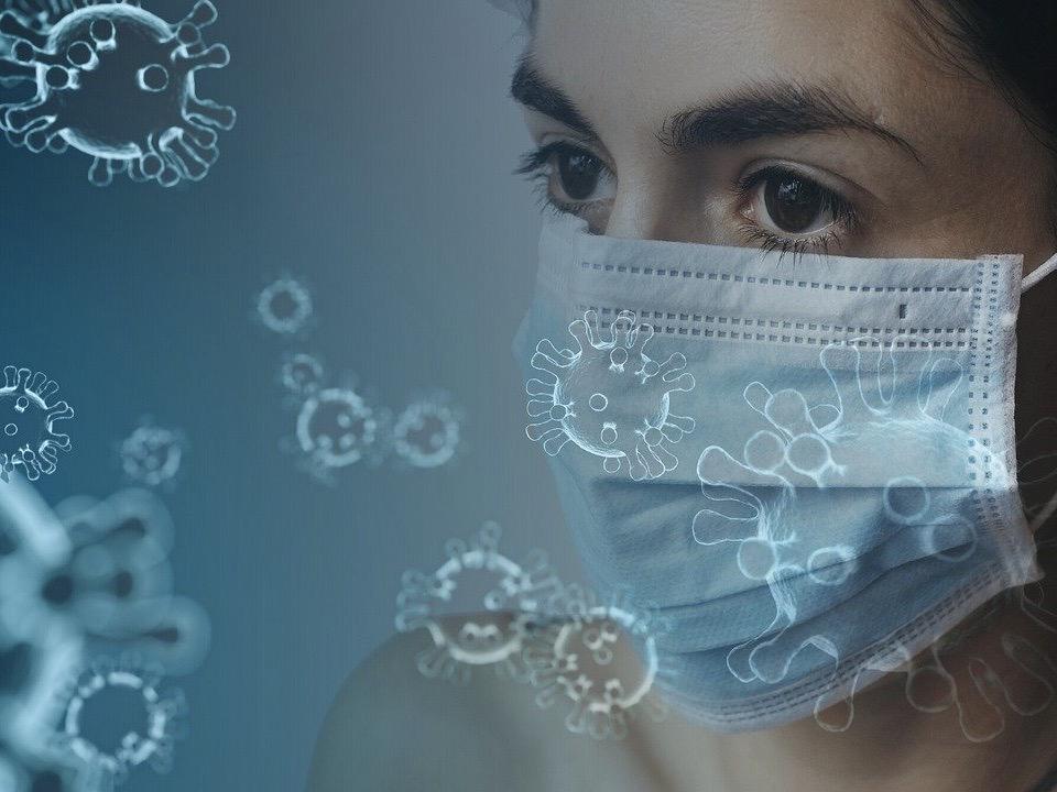 コロナウイルスとマスク