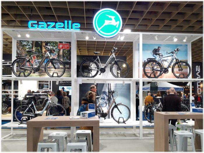 ガゼル自転車のブース