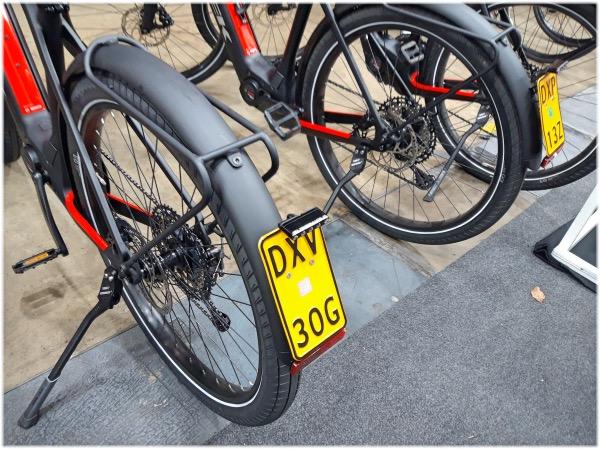自転車のナンバープレート