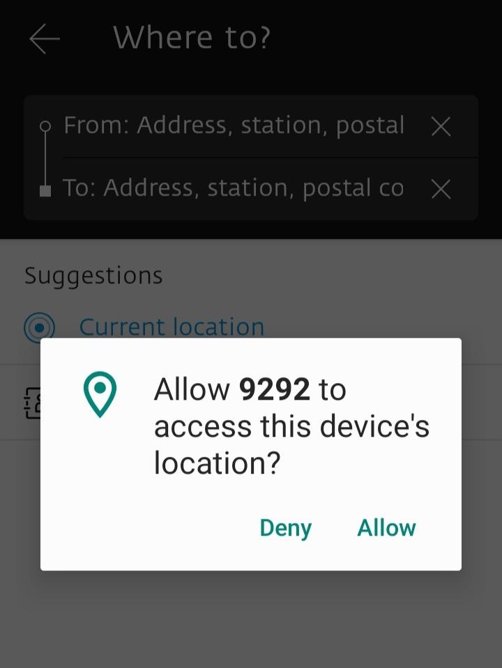 アプリの位置情報