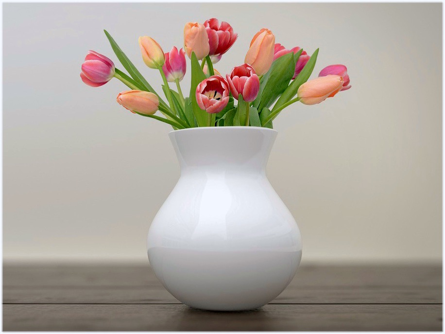 チューリップの花瓶選び