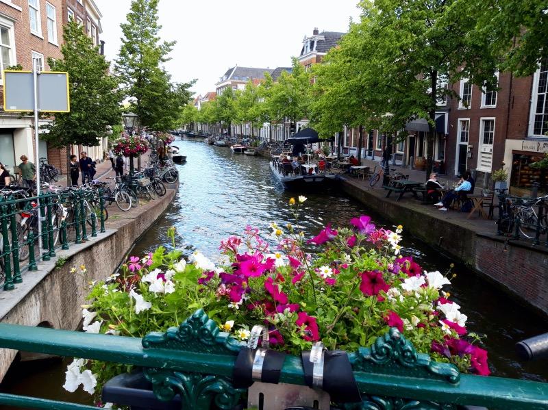 橋から眺める運河