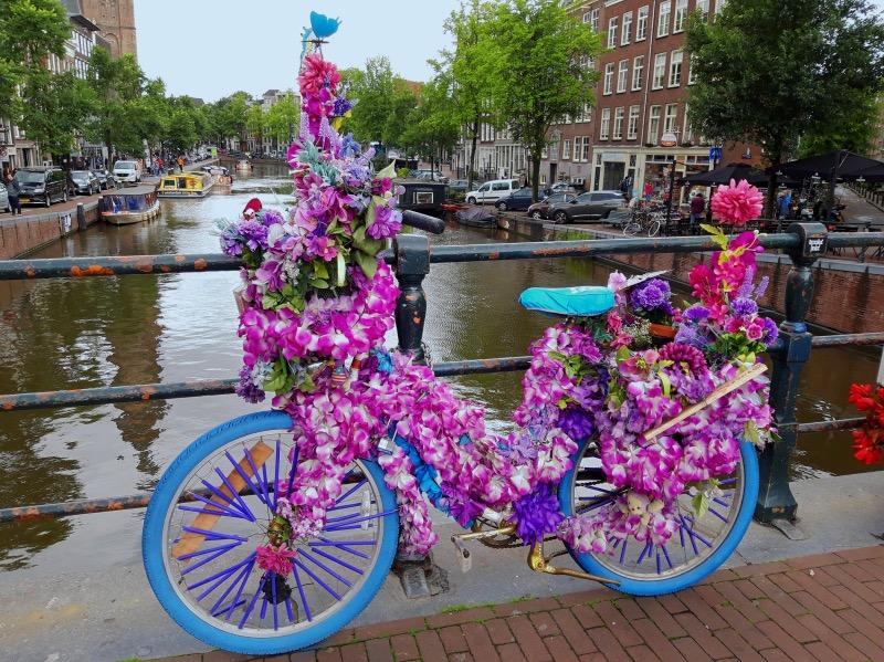 花の自転車