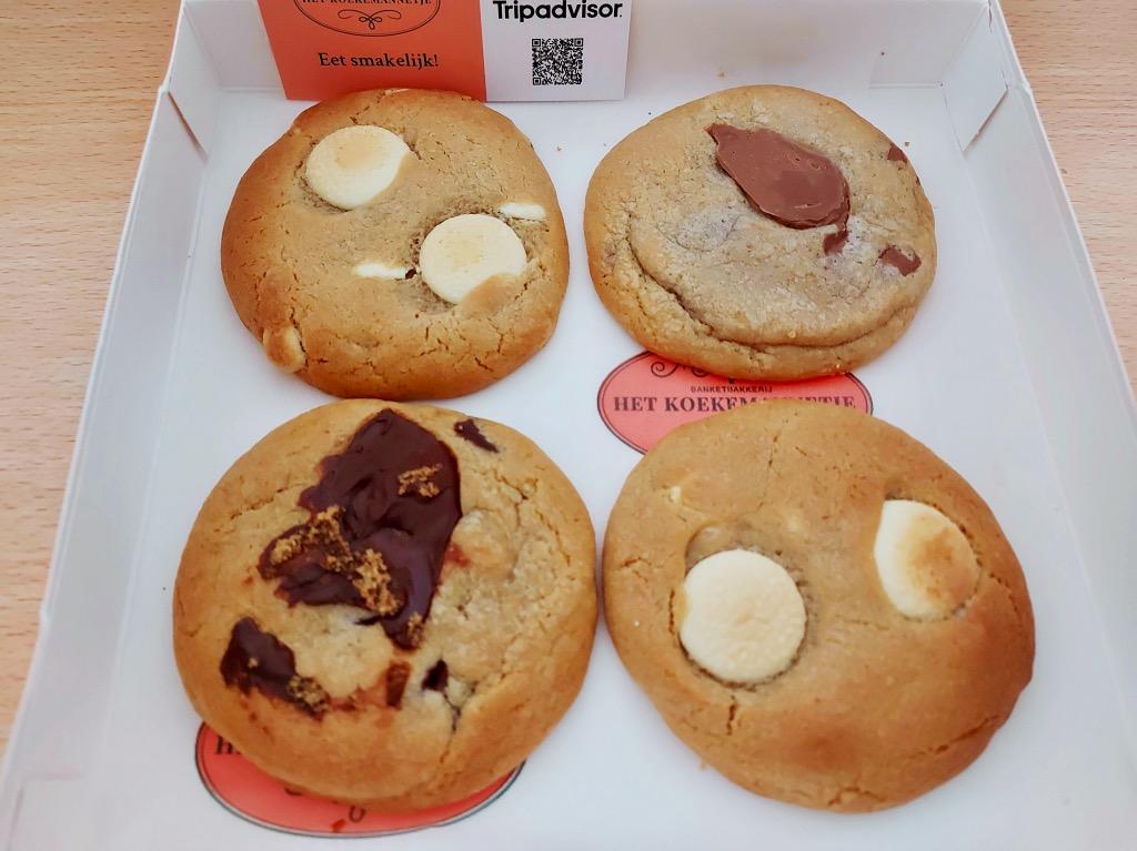 4種類のクッキー