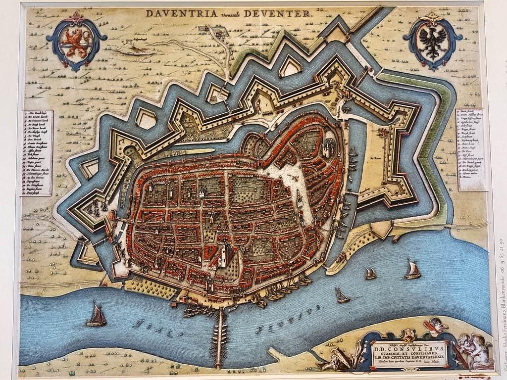 中世デフェンターの地図